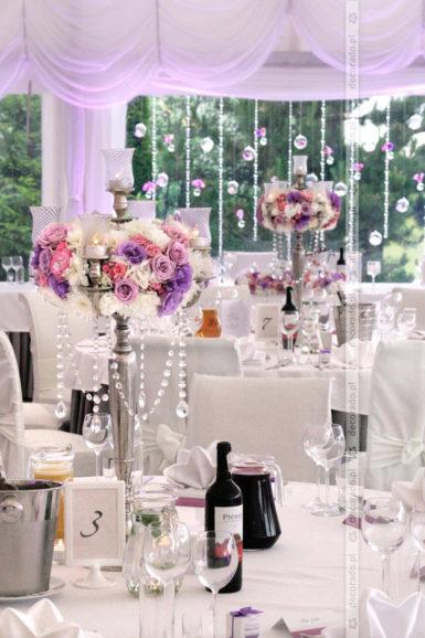 Dekoracja ślubna w stylu glamur Rezydencja Solei
