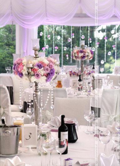 Dekoracja ślubna w stylu glamur Solei
